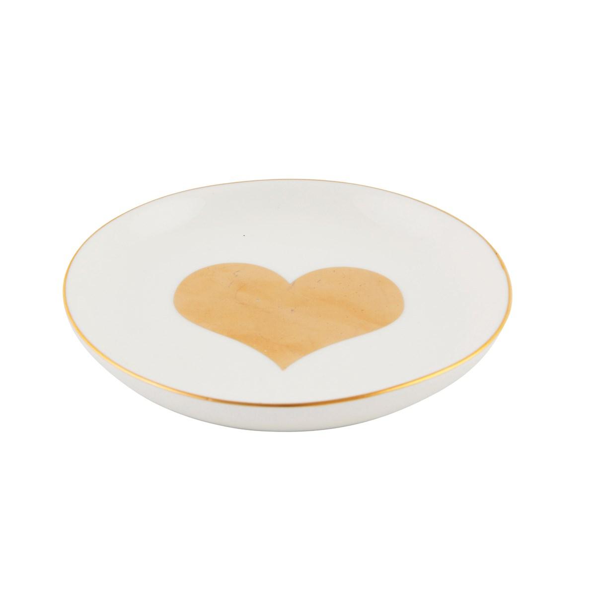 Krožniček za nakit zlato srce