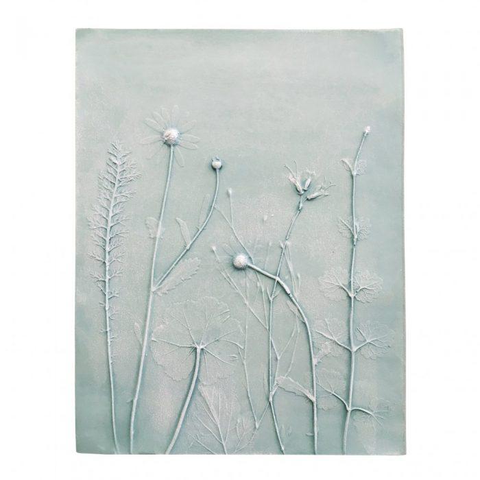 floral bas-relief